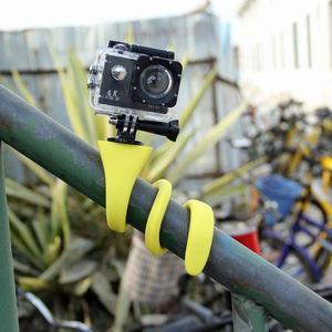 Image 4 - Mini Camera Tripod Mount Banana Pod for Gopro Xiao Mi Yi SJ4000 action camera for iphone7 6s car headrest selfie stick