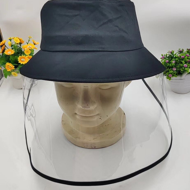 Epidemic Protection Hat Anti Saliva UV Hat with Face Shield Full Face Isolation Anti-Pollution for Fishing Boonie Camping Hiking 5