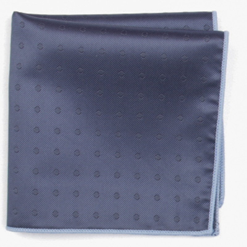 Dark Blue Subtle  Fashion Patterned Pocket Square With Patterns Handkerchief
