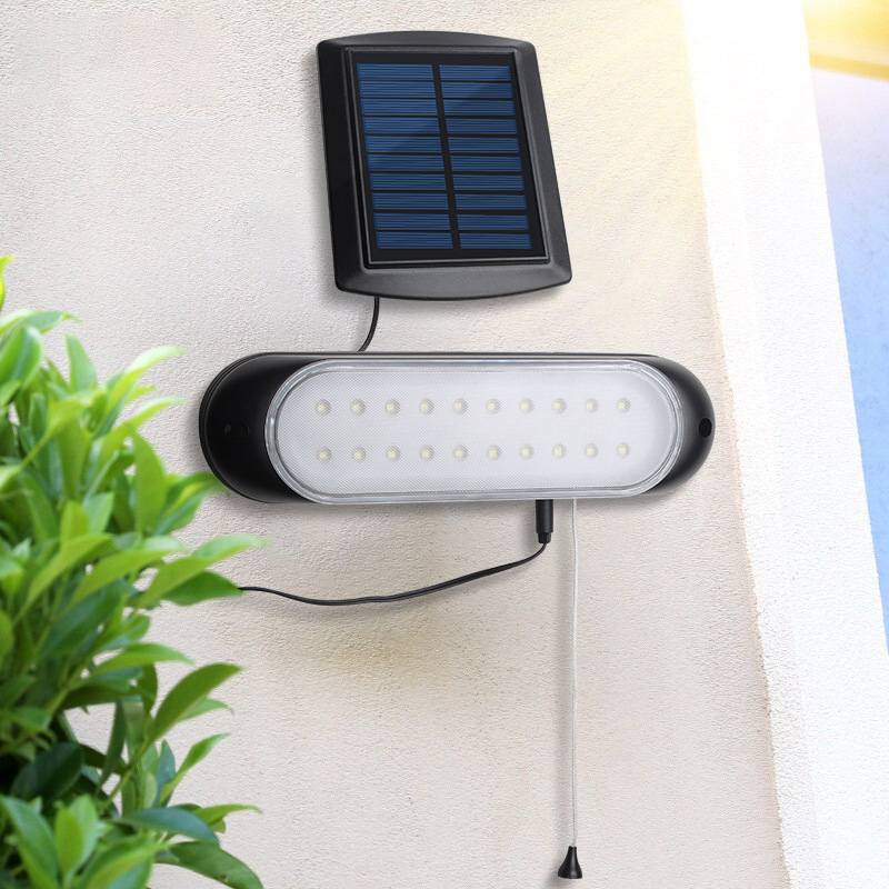 Solar Balcony/Courtyard/Kitchen Lamp Indoors And Outdoors Dual Use Lights Bracing Wire Control Bright Light Belt 5 M Extension L|Spotlights| |  - title=