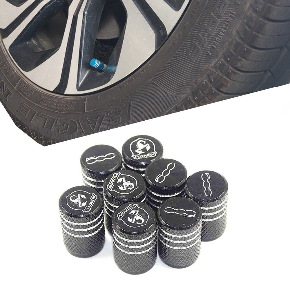 Auto Styling Thread Round Car Tires Wheel Valve Cap Dust Cover For Fiat 500 1100 Abarth Palio Stilo Bravo Alfa Romeo 159 147 156