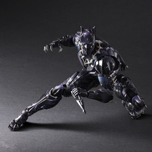 цена на 27CM PLAY ARTS Marvel Avengers Black Panther Super Hero PVC Action Figure Model Toy Collectible Panther figures for gifts