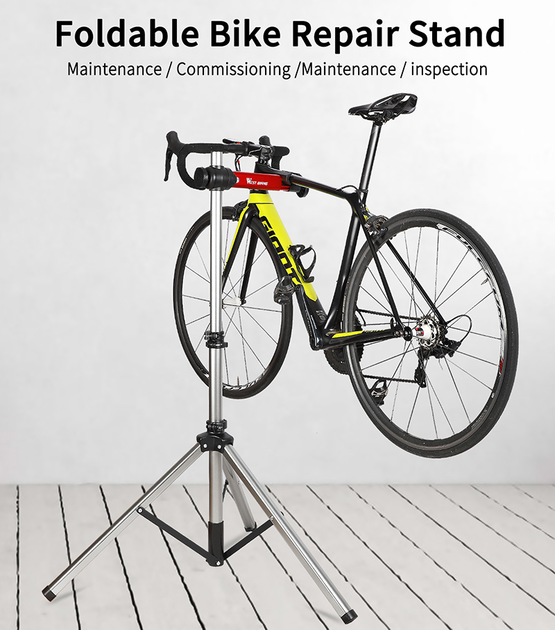 Bike Repair Work Stand Telescopic Arm Bicycle Rack Adjustable Holder Foldable