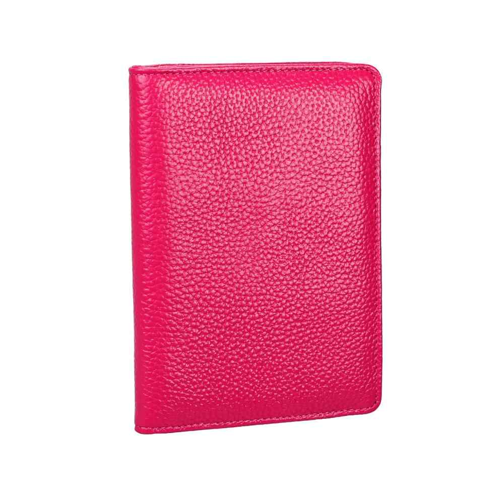 Натуральная кожа rfid Держатель для паспорта и карточек Кошельки для монет для женщин и мужчин IC Кредитная карта пара Обложка для паспорта, кошелек CHW11