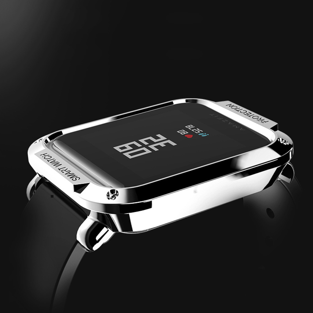 Electroplating Case For Amazfit Bip Protect Bumper Youth Watch Ultra-Slim PC Cover Screen Accessories Screen Protector Shell
