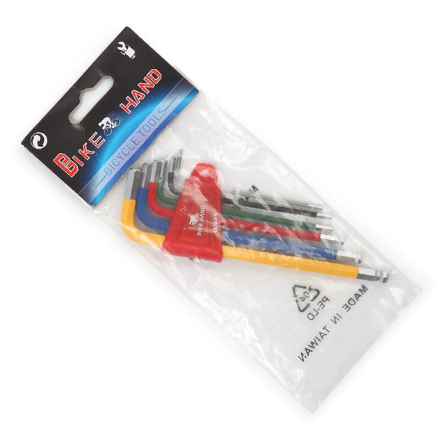 6 sztuk 1.5mm - 10mm sześciokątne Allen klucz imbusowy zestaw narzędzi imbus matowy Chrome Ball End zestaw kluczy śrubokręt stalowy zestaw narzędzi