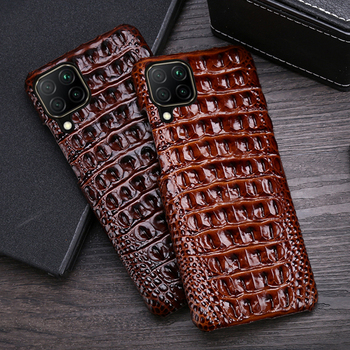 Leather Phone Case For Huawei P40 Lite P20 P30 Mate 20 30 Nova 5T P Smart For Honor 10 10i 20 Pro 20i 8X 9X Crocodile Back Cover
