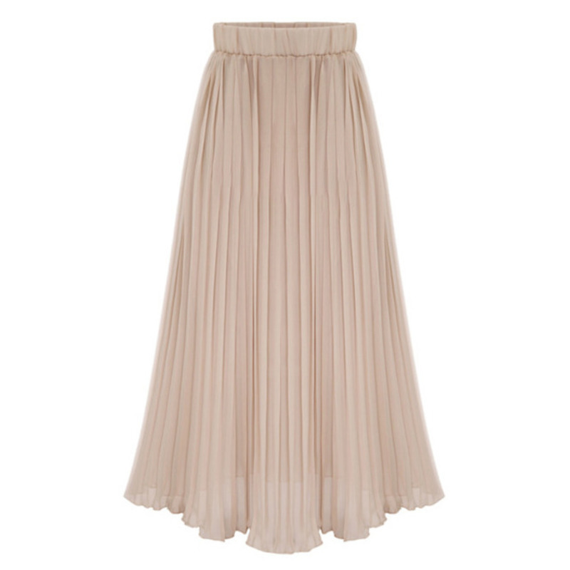 LANMREM 2020 New Spring High Waist Solid Color Pleated Skirt Women Vintage Loose Casual Wild Student Bottom Tide PD077