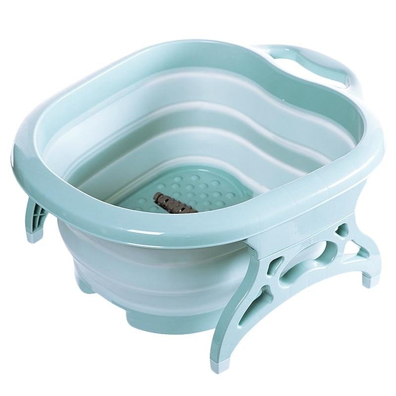 Foot Bath Massage Bucket Collapsible Foot Bath Plain Foam Massage Barrel Foot Tub Large Plus Foot Bath Barrel Decompression For Inflatable & Portable Bathtubs     - title=