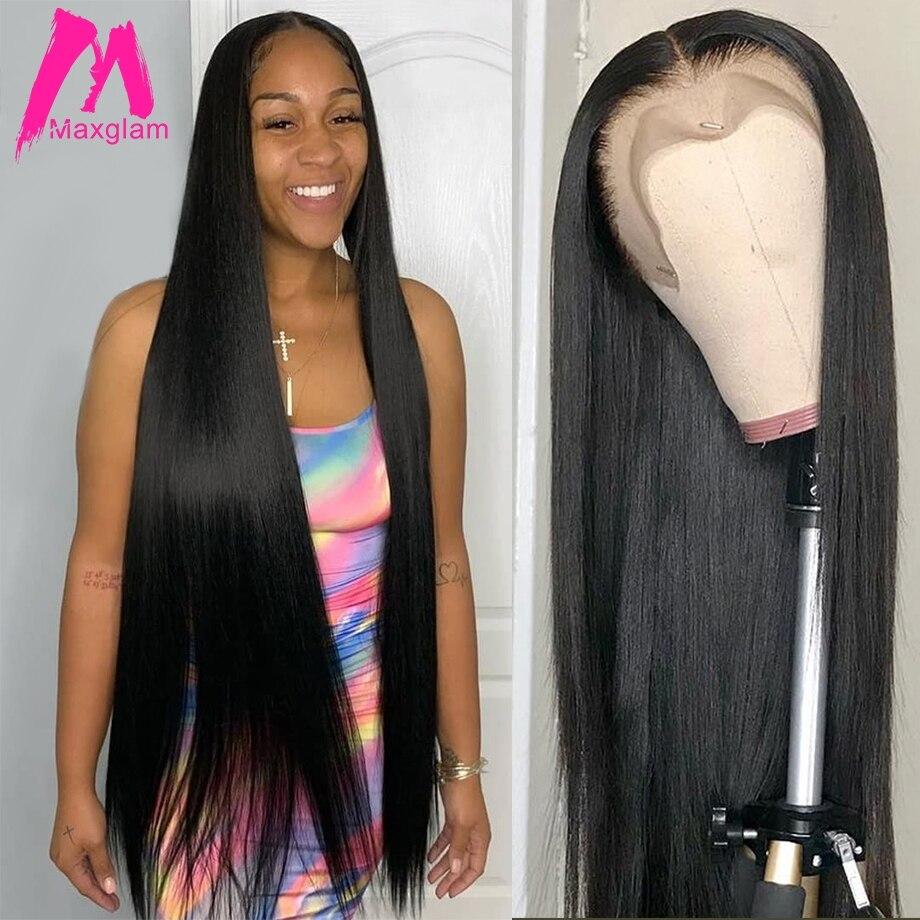 Парик из натуральных волос 28, 30, 40 дюймов, 13х4, бразильские парики на фронтальной части, натуральные волосы Remy для черных женщин