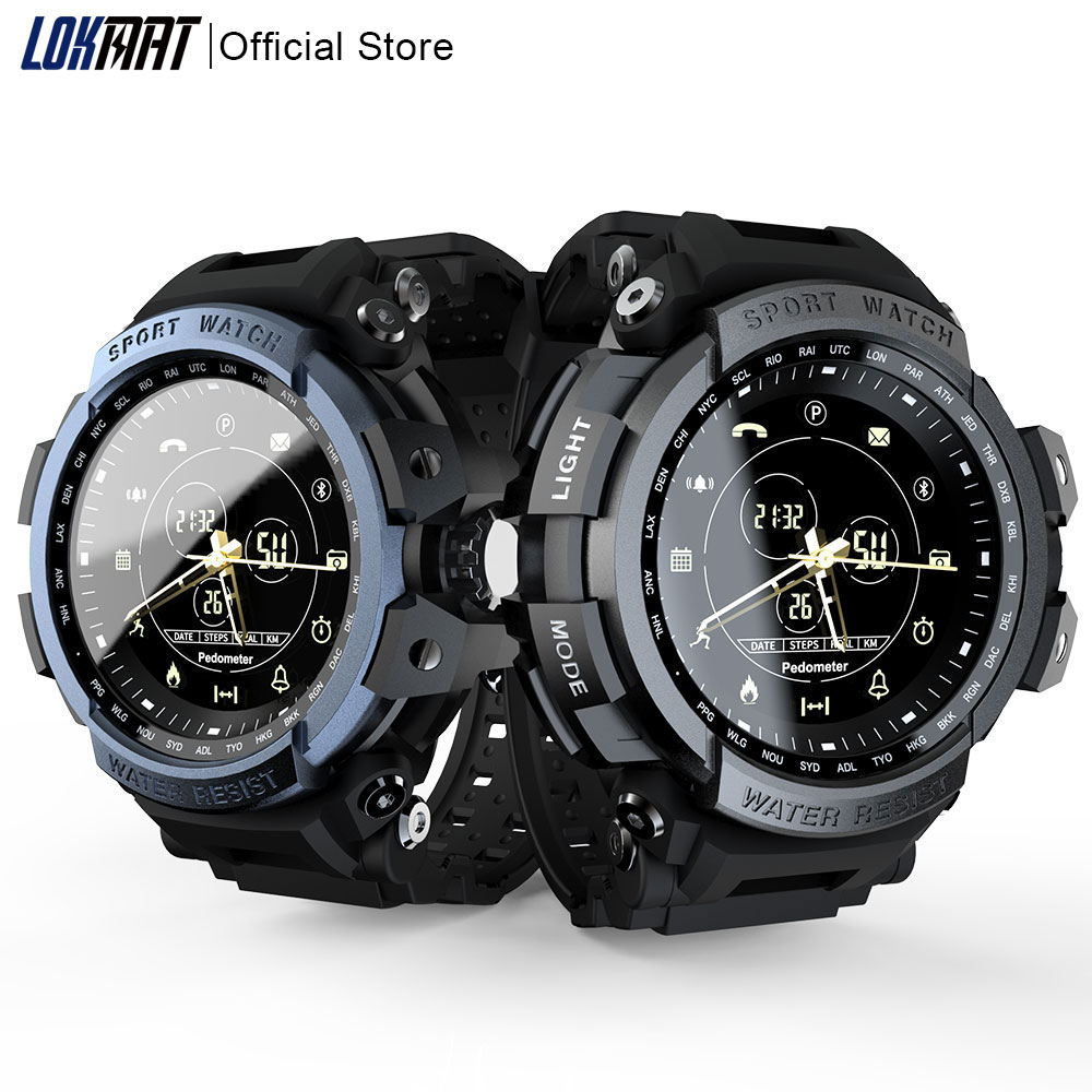 LOKMAT Sport Smart Watch Professional 5ATM Waterproof Bluetooth Call Reminder Digital Men Clock SmartWatch For ios and Android|Smart Watches|   - AliExpress