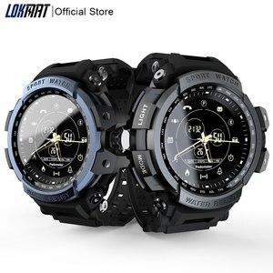 Спортивные Смарт-часы LOKMAT, профессиональные, 5 АТМ, водонепроницаемые, Bluetooth, напоминание о звонках, Цифровые мужские часы, умные часы для ios и...