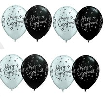 Supplie Balloons-Decor Silver Party And Black White 1pcs Happy-Engagement-Decor Kids