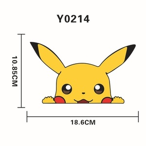 Image 2 - 1pcs Cartoon car stickers and decals accessories  Car Styling Classic Decorative Sticker Accessories