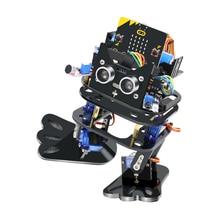 Микробит бипедальный ходячий робот для подростков Графический программируемый робот Diy kit