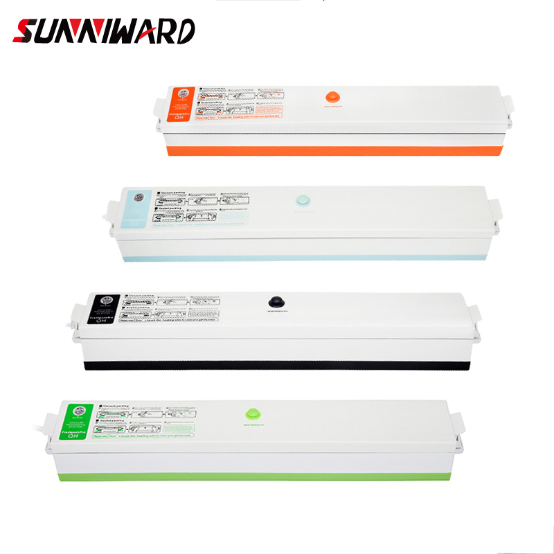 Sunniward 220v/110v Household Food Vacuum Sealer Packaging Machine Film Sealer Vacuum Packer Including 10pcs Bags