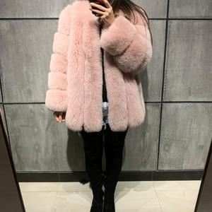 Image 5 - Futro damskie płaszcz z prawdziwego futra futro naturalne