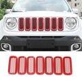 Красная передняя решетка вставки для радиаторной решетки Защитная крышка для 2015 + для Jeep Renegade Unlimited