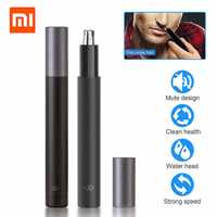 Xiaomi Mijia Mini Electric Nose Hair Trimmer Safe Nose Hair Shaving Machine Waterproof Face Care Facial Cleaning Makeup Tools
