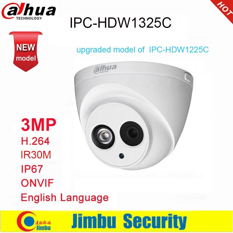 Ip камера Dahua 3MP IPC HDW1325C H.264 IP67 IR30M ONVIF, купольная камера наблюдения 3DNR, день/ночь