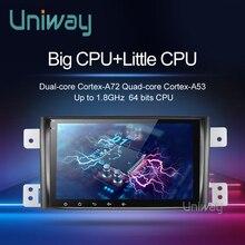 Uniway radio multimedia con gps para coche, radio con Android 9,0, DSP, PX6, 64 Bits, estéreo, gps, con volante