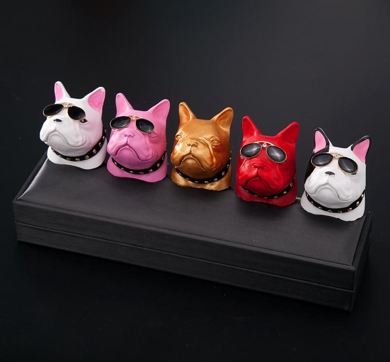 Bulldog Car Air Freshener Perfume Clip Fragrance Diffuser Auto Vents Scent Parfum Bulldog Diffuser Car Accessories Interior
