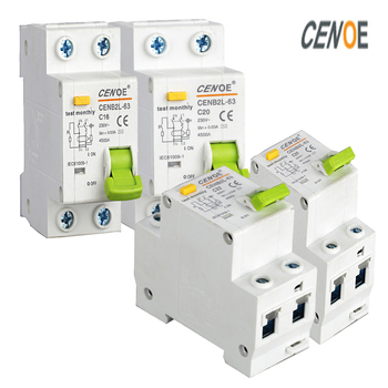 Free shipping superior elcb earth leakage circuit breaker good residual breaker DPNL1P+N 230V~50/60HZ with Leakage protection