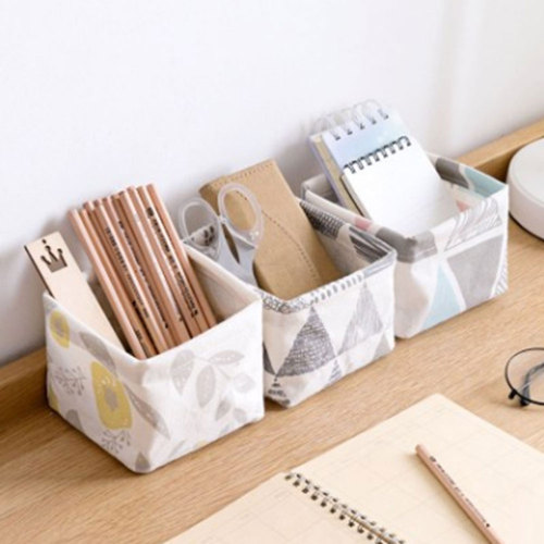 Receives-Box Stationery Dresser Cosmetics Tea-Table Cloth Desktop Art Remote-Control