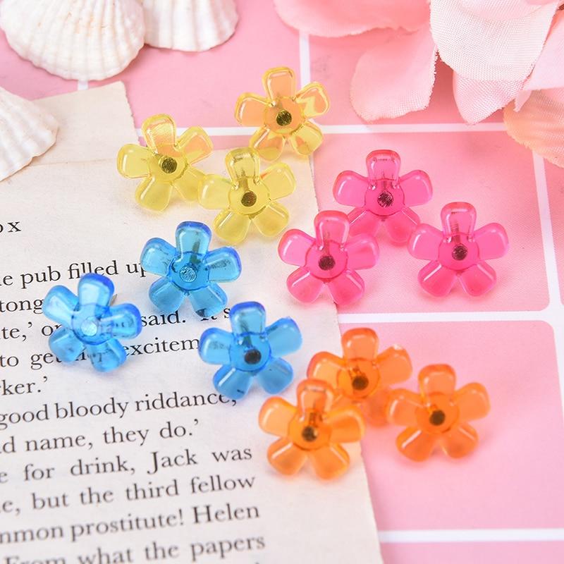 12pcs Push Pins Flower Star Shaped Push Pins Bulletin Boards Thumb Tacks Decorative For Cork Board Home And Office Supplies