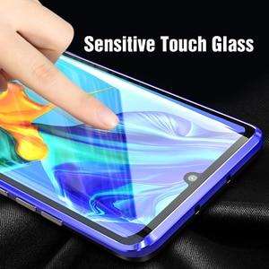 Image 4 - Funda magnética protectora de cuerpo completo para Huawei P30 Pro P20 Mate 20 Pro 360, funda trasera de vidrio templado para Huawei P30Pro