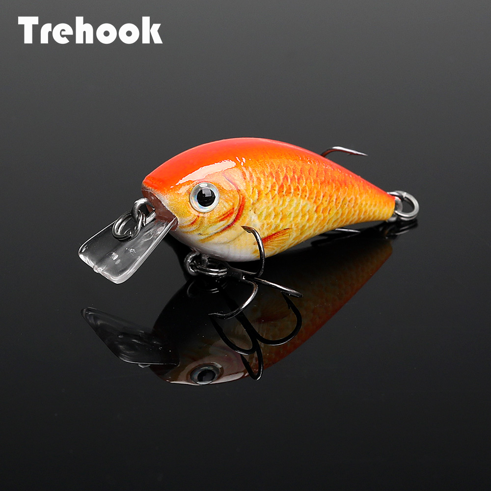 TREHOOK 4.5cm 6g Mini Minnow Wobblers Crank Fishing Lure Artificial Minnow Jerkbait Floating Hrad Lure For Trout Fishing Bait 05