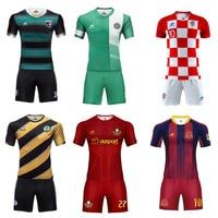 Zhouka Adult Soccer Uniform Football Jersey 2019 Boys Team Club Jerseys Camiseta Futbol Football Kits Sport Suit Tracksuit Men