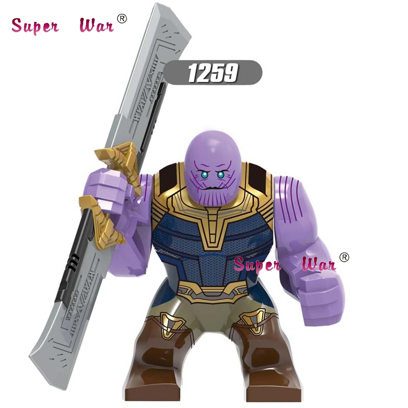 Single Marvel Avengers Thanos Infinity Gauntlet Hulk Hulkbuster War Machine Batman Big Size IronMan Building Blocks Kid Toys