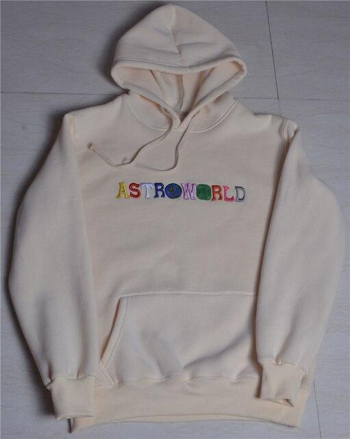 2020 TRAVIS SCOTT Astroworld WISH YOU WERE HERE Embroidered Rainbow Letter Men Women Pullover Hoodies Fashion Hip Hop Sweatshirt 5