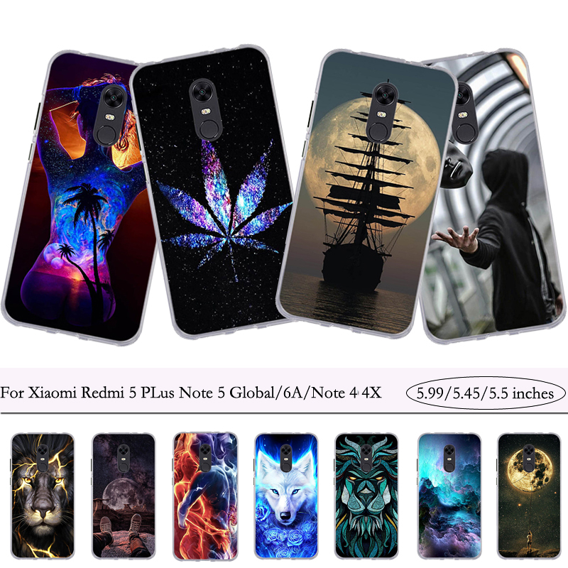 Case for Bumper Silicone-Cover Note Xiaomi Redmi 5-Plus 6A Fundas TPU Soft 4x-Bag