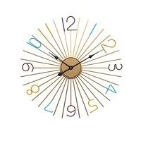 Nordic Wall Clock Modern Metal Gold Click Mechanism Art Living Room Creative 3d Clocks Duvar Saati Home Decoration Gift FZ545