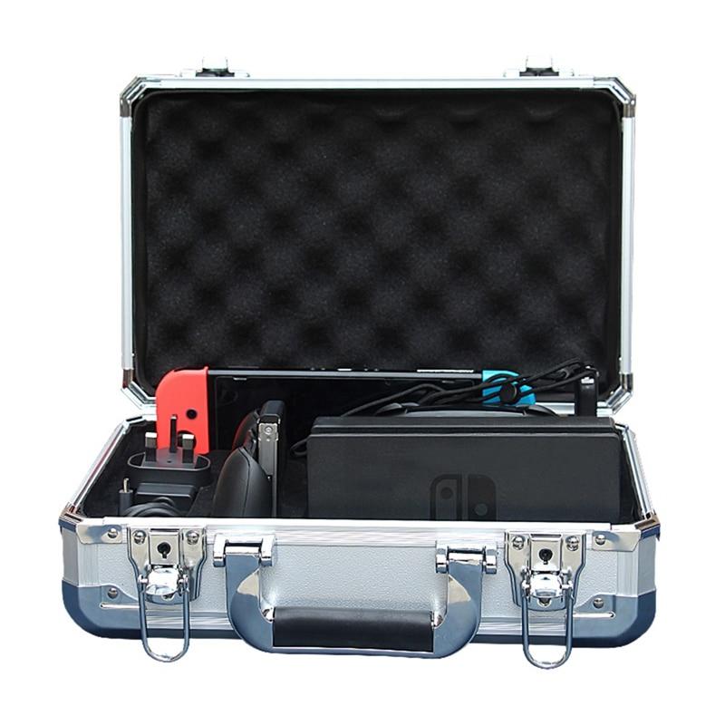 Coque rigide en alliage d'aluminium sac de rangement de transport étanche pour Nintendo Switch Ns accessoire de Console de commutateur