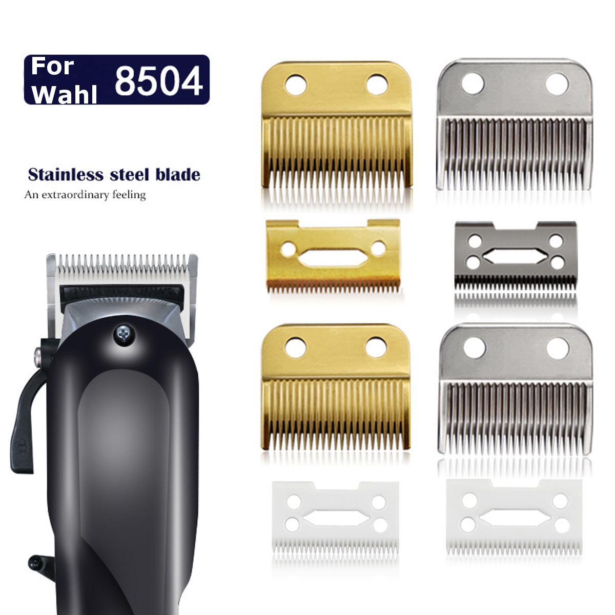 Clipper Part Standard Trimmer Accessories Movable Blade Professional Hair Barber Hair Replacement Blade Set For Wahl 8504