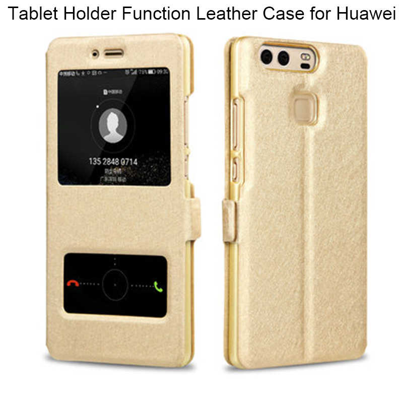 Silk PU Leather Case for Huawei P Smart Y3 ii Y5 ii Y6 ii Nova 2 Plus Case on Nova 2i 2S 3i 3E Case for Y6 Pro Y7 Prime 2017