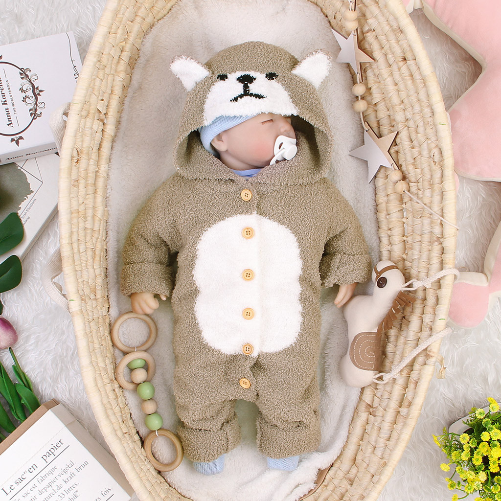 Winter Infant <font><b>Romper</b></font> <font><b>Fleece</b></font> Newborn <font><b>Baby</b></font> <font><b>Rompers</b></font> Infant Clothing <font><b>Baby</b></font> Boy <font><b>Girl</b></font> Jumpsuit Hooded <font><b>Baby</b></font> <font><b>Girl</b></font> <font><b>Clothes</b></font> <font><b>Baby</b></font> <font><b>Christmas</b></font> image