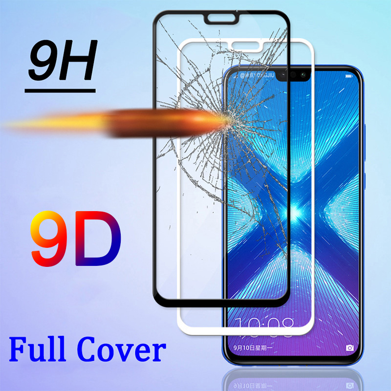 Screen-Protector Tempered-Glass P Smart Huawei 9D for Y6 Y7-prime/Pro/Y5 Y9 Coverage