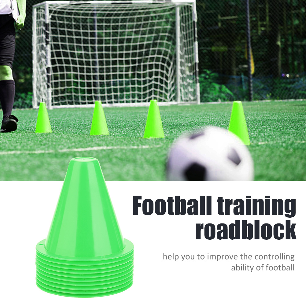 10pcs 8.5cm High Quality Plastic Portable Football Supplies Soccer Training Cone Football Barriers Marker Holder Accessory
