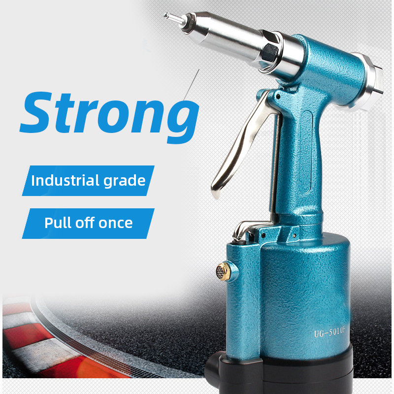 Commercial Pneumatic Rivet Gun Hydraulic Riveting Tool Air Riveter Power Tool For Gas Pressureblind Rivets