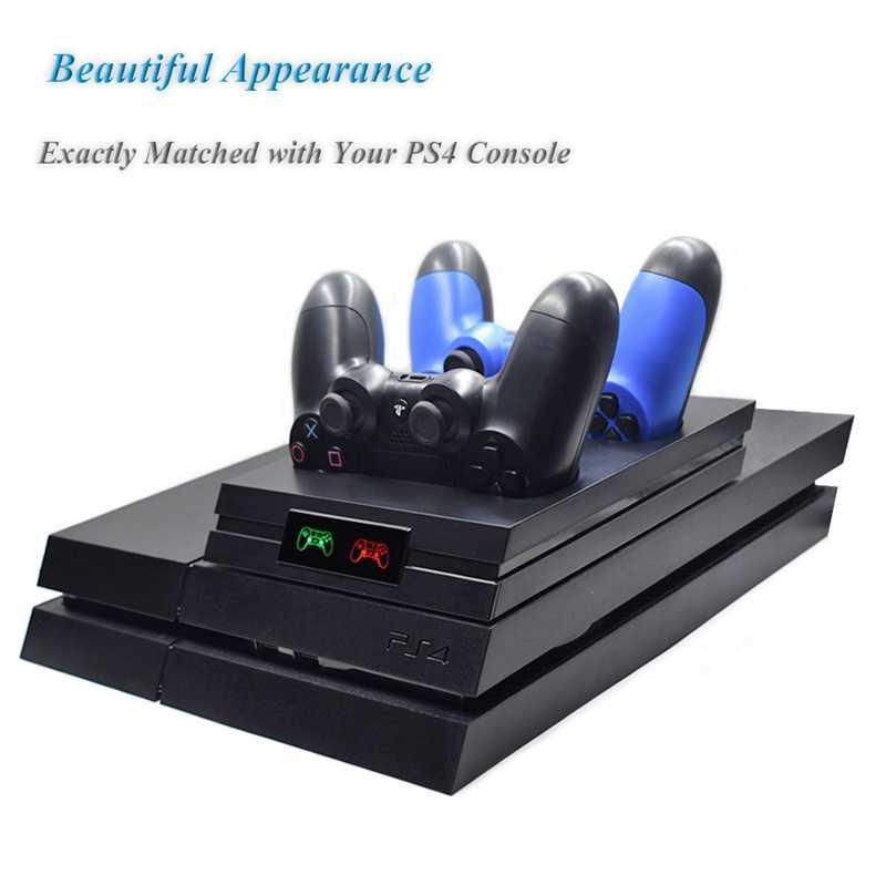 AMS-untuk PS4 Controller Charger Gamepad Pengisian Dock untuk Sony PlayStation 4/PS4/PS4 Slim/ PS4 Pro dengan LED Indic