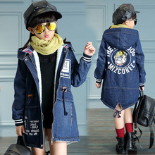 Girls Coats Winter Jackets For Coat Children Clothing 2019 Autumn Cardigan Plus Velvet Outerwear