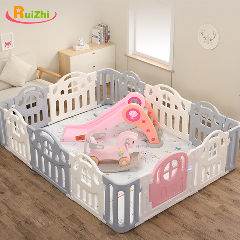 Ruizhi Children Playpen With Ball Pit Indoor Amusement Park Baby Fence Climbing Pad Safety Learning Walk Guardrail RZ1203