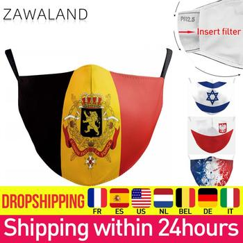 Zawaland Women Men Spain Israel Flag Print Masks Protective PM2.5 Face Mask Washable Fabric Proof Pollution Mouth Cover - discount item  43% OFF Mask
