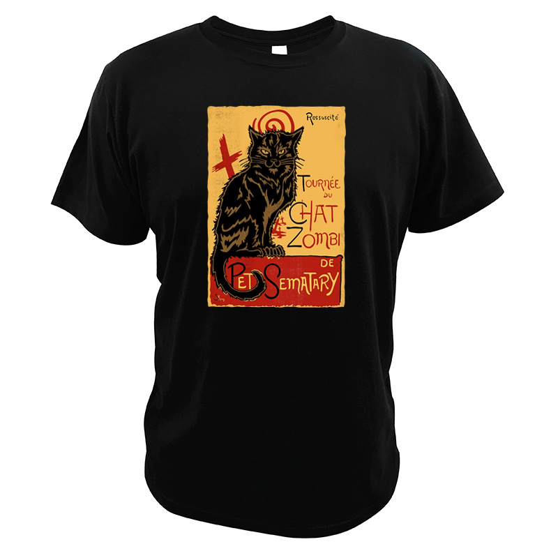 Men Tee The Walking Dead T shirt Cat Chat Zombie <font><b>Pet</b></font> <font><b>Sematary</b></font> Tee Tops 100% Cotton Fashionable Cool T-shirt image