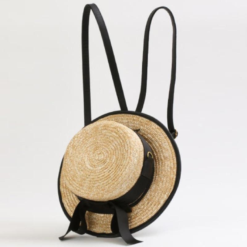 Bow straw hat bag women woven shoulder bag Messenger bag small fresh 2019 summer new style back bag