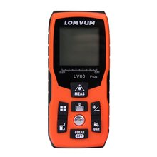 Lomvum 40/60/80/100/120 м ручной лазерный сканер штрих кода, для измерения расстояния, дальномер Площадь Объем угол автоматический калибровочный лазерный дальномер для охоты